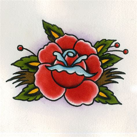 tattoo flash facebook traditional rose tattoo flash by chris hold via flickr