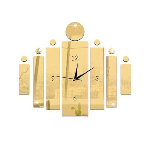luxury wall stickers diy 3d modern mirror quartz clock wall sticker