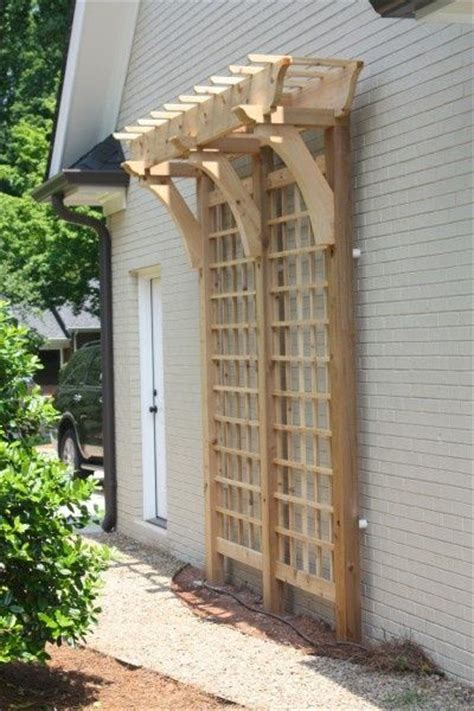 building trellises arched wall trellis woodworking projects plans