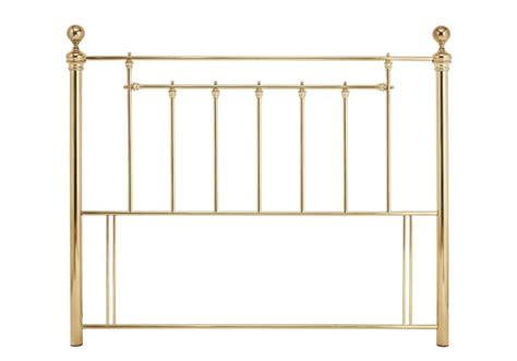 brass bed headboards serene benjamin 5ft king size brass metal headboard by