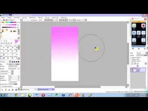paint tool sai gradient gradient tutorial sai