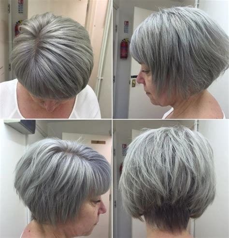 gray hair layered bob 60 gorgeous hairstyles for gray hair