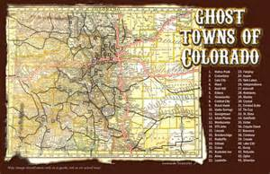 map of ghost towns in colorado outdoor colorado postcards direct mail postcard design