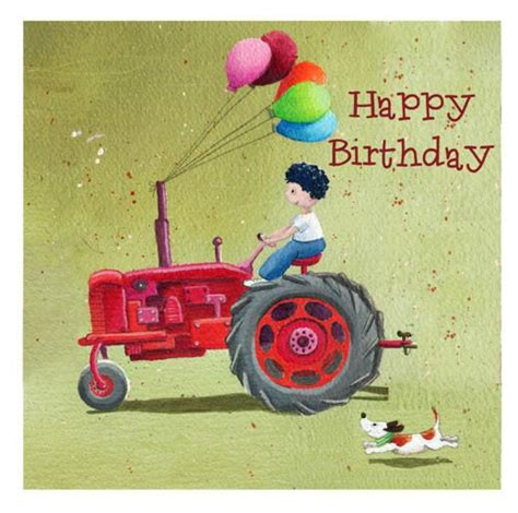 Tractor Birthday Card Tractor Happy Birthday Greetings Card Louise Tate