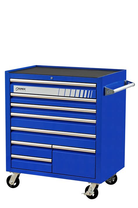 blue 8 drawer service cart