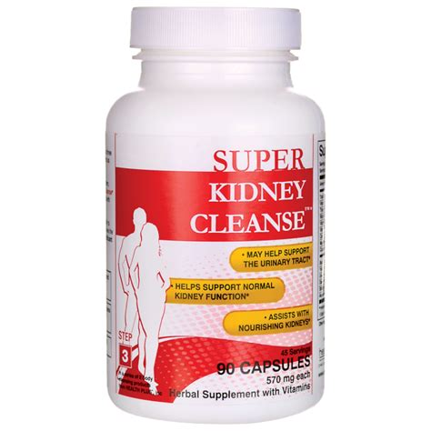 Kidney Detox by Health Plus Kidney Cleanse 90 Caps Swanson Health