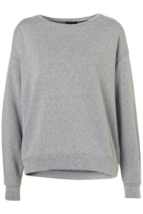 plaid curved hem skirt black gray olu2kjol topshop curve hem sweater in gray lyst