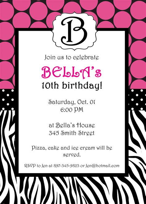 printable invitations with photo zebra birthday invitations template best template collection