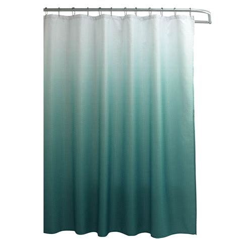 Blue Shower Curtains Croydex Shower Curtain In Geo Mosaic Blue Af281624ywh The Home Depot