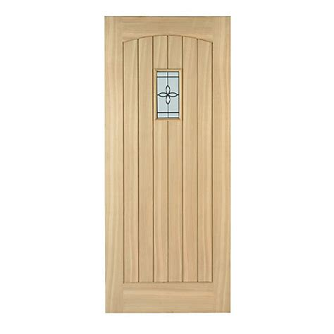 Wickes Doors Exterior Wickes External Cottage Oak Veneer Door Glazed 1981 X 838mm Wickes Co Uk