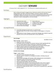 Sle Of A Cv Resume by Sales Manager Cv Exle For Sales Livecareer