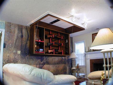 house themes vault hidden wall clock gun safe