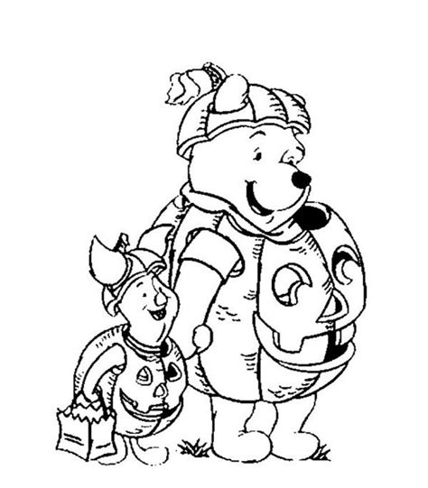 disney pumpkin coloring pages pooh and piglet pumpkin costume disney halloween coloring