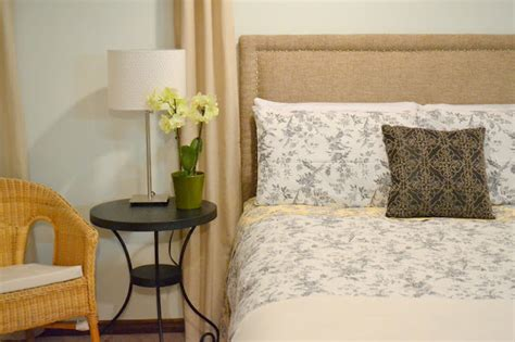 honey sweet home sprucing a guest room with a diy upholstered headboard