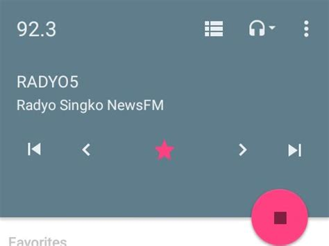 fm radio app for android material design fm radio app on an android one phone