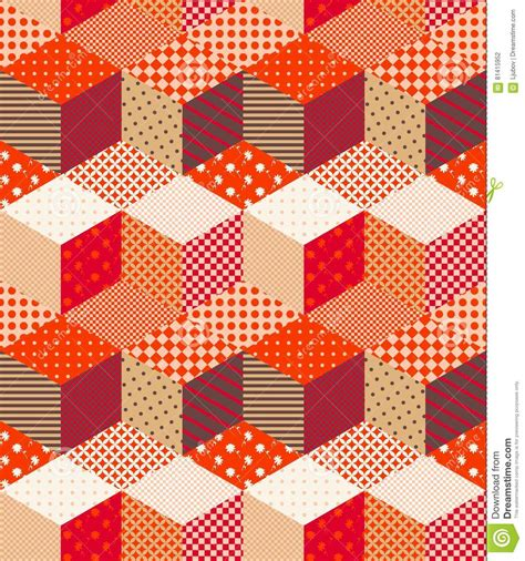 Patchwork Style - colorful cover in patchwork style vector illustration