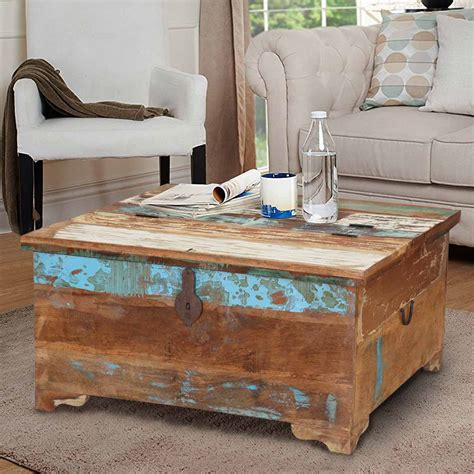Handcrafted Wood Coffee Table Appalachia Handcrafted Reclaimed Wood Coffee Table Trunks