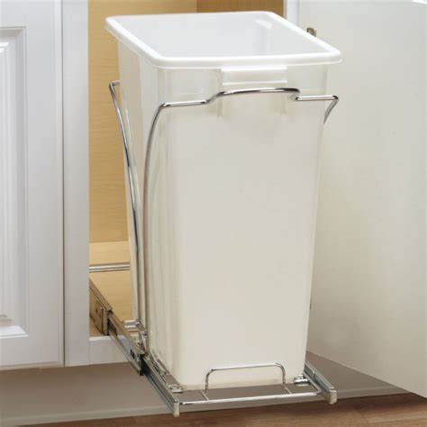 Trash Can Slider Cabinet by Sliding Cabinet Trash Can 36 Quart In Cabinet Trash Cans