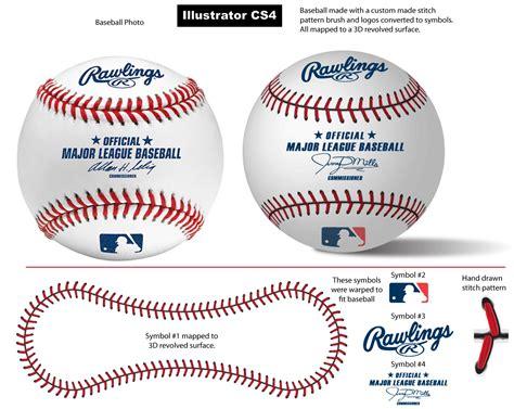 baseball pattern template baseball stitch pattern brush by vectorgeek on deviantart