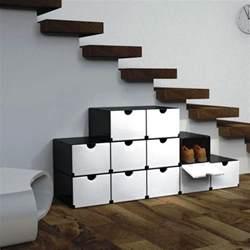etagere boite shoe rack holder cabinet floating stairs for modern