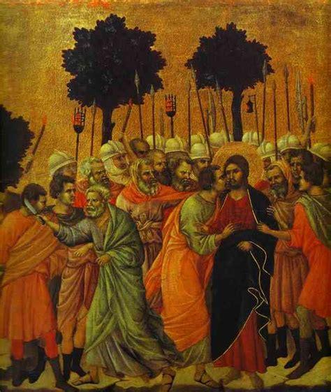 duccio betrayal of christ story duccio di buoninsegna jezus wordt gevangengenomen detail