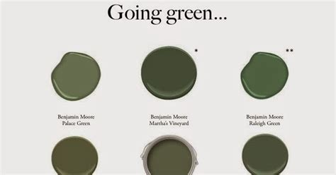 the and of it favorite green paint colors
