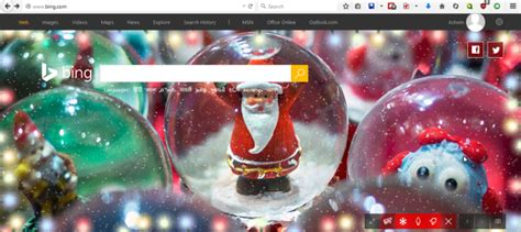 christmas homepage themes bing com gets a christmas theme which lets you customize