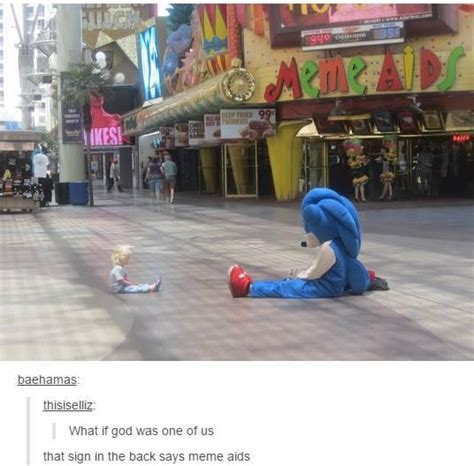 One Of Us Meme - sonic the hedgehog i see what they did there memes