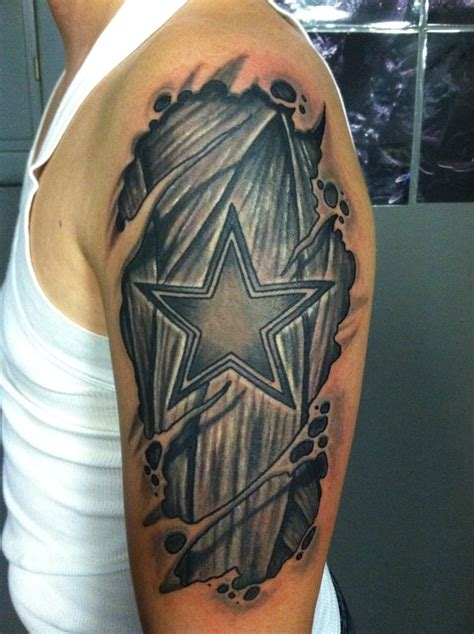dallas cowboys tattoo star under skin at dallas tattoo