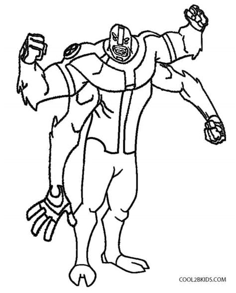 ben 10 four arms coloring pages coloring pages online ben 10