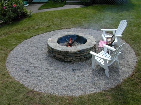Backyard With Firepit How To Build A Pit Diy Pit How Tos Diy