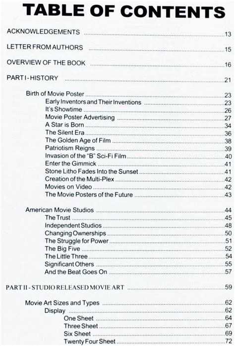 contents of a book report best photos of table of contents page exle exles