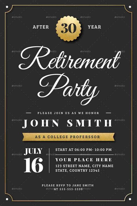 retirement luncheon flyer retirement party invitation template 36