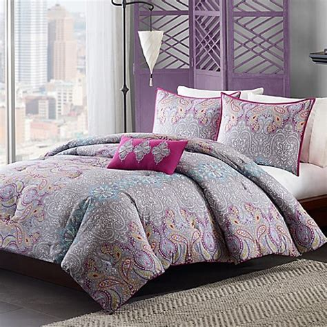 grey twin bedding mizone keisha comforter set in grey bed bath beyond