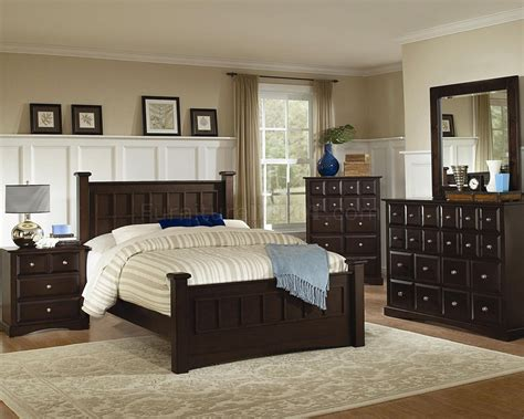 Transitional Bedroom Sets by Harbor 201381 Bedroom In Cappuccino By Coaster W Options