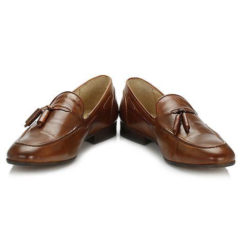 mens brown tassel loafers hudson mens tassel loafers brown leather casual