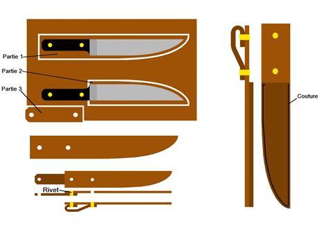pochette pour couteaux de cuisine fabriquer un 233 tui 224 couteau en cuir
