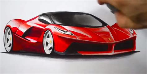 ferrari laferrari sketch how to draw a laferrari autoevolution