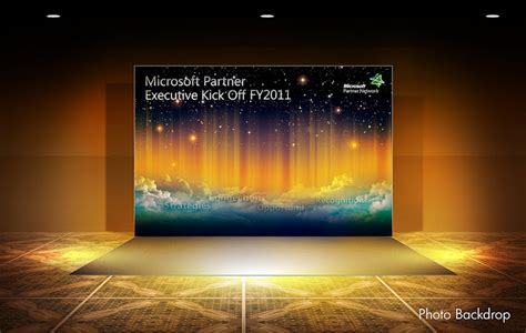 backdrop design size event design microsoft partner executive kick off 2011