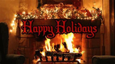 happy holidays hearth gif happyholidays hearth chimney discover share gifs