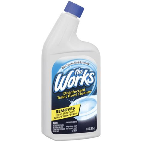 works bathroom cleaner the works cleaner disinfectant 28 fl oz walmart com