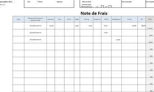 Modele Note De Frais Kilometrique 2017