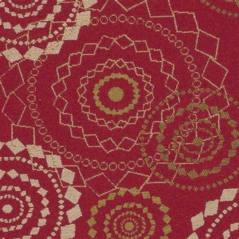 mayer upholstery sunbrella by mayer mandala crimson 418 001 imagine