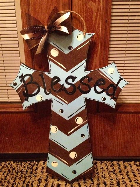 Diy Painted Cross Door Hanger My Finished Projects Pinterest Cross Door Hangers Painted Wooden Door Hanger Template