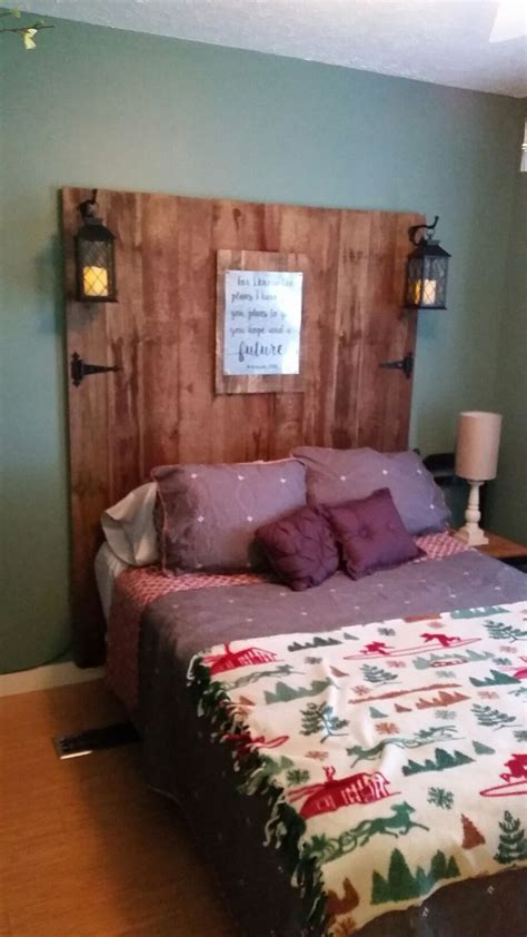 country headboard ideas  pinterest rustic