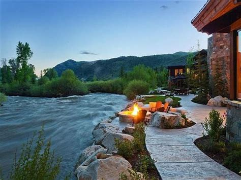 Home By The River near river ranch style home with modern luxury design