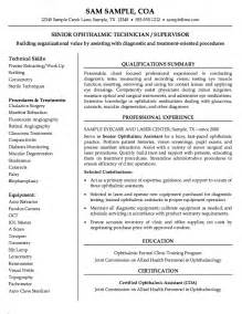 Ophthalmic Technician Cover Letter by Search Results For References For A Resume Calendar 2015