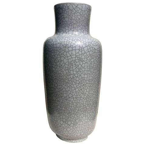 Gray Vases by Large Floor Vase In Gray Crackled Glaze By Glatzle For Karlsruhe Majolica 1960 At 1stdibs