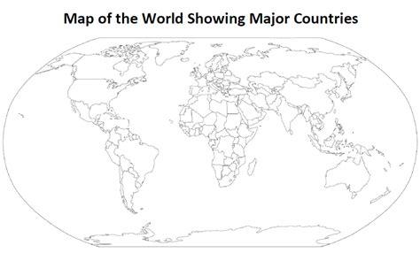 printable outline map   world