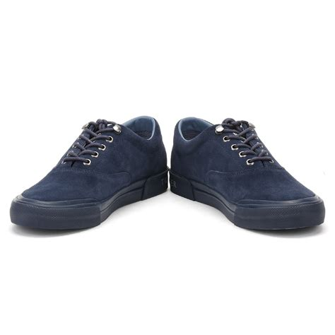 mens sport casual shoes hilfiger mens navy blue suede trainers lace